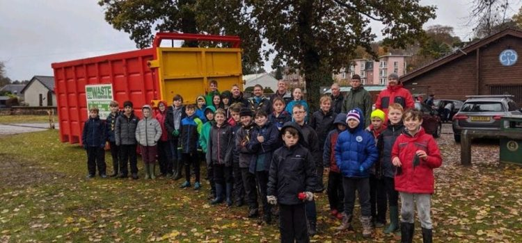 1st BANCHORY SCOUTS ON HAND FOR BONFIRE NIGHT CLEAR UP